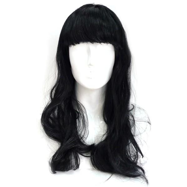긴생머리가발 [블랙]