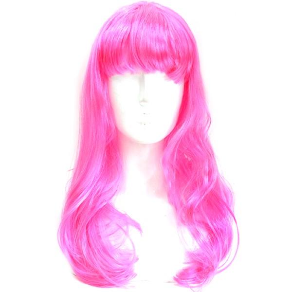 긴생머리가발 [핑크]