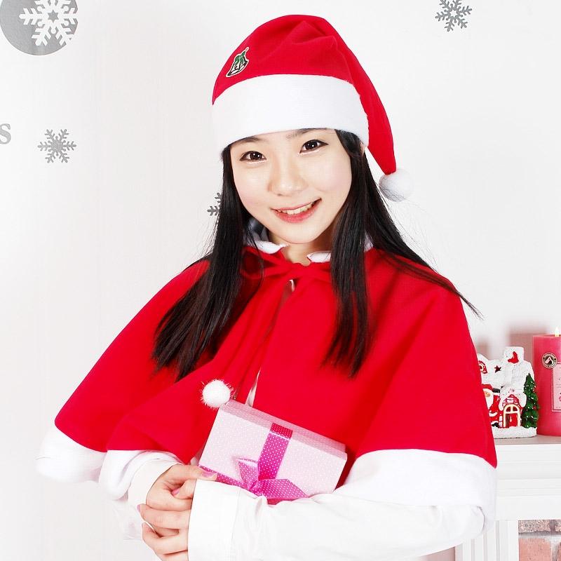 ★판매2위★ 국산 산타망토+모자세트 [대/여성] 일반