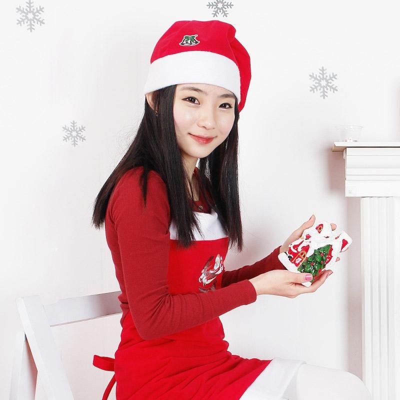 산타앞치마모자세트 [성인용]