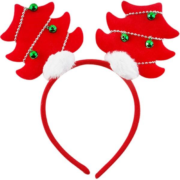 크리스마스 트리머리띠 [레드]