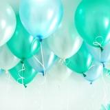 헬륨풍선 민트앤블루 10개묶음 [차량배달] 온라인한정