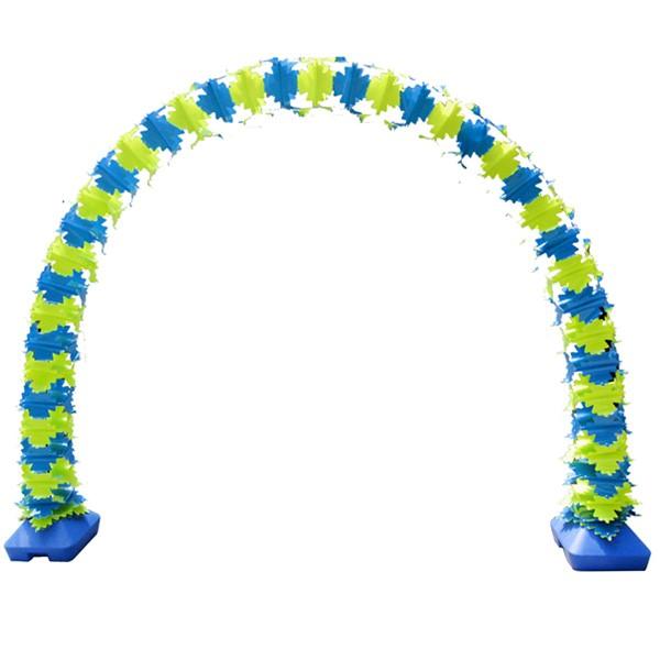 PVC아치 똑딱이연결형 30cm광폭 [옐로우/블루]
