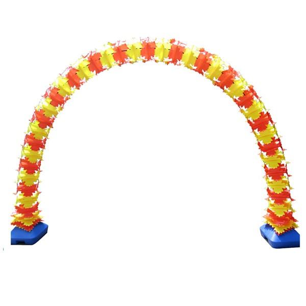 PVC아치 똑딱이연결형 30cm광폭 [옐로우/오렌지]