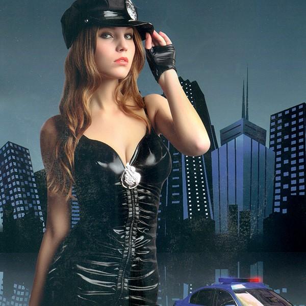 섹시경찰 나시원피스 의상세트
