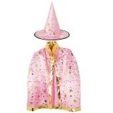 할로윈 별무늬망토 의상+모자세트 [핑크]