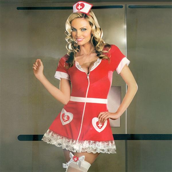 섹시 간호사의상 레드