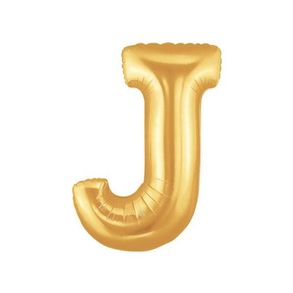 알파벳은박풍선 중 골드 [J]