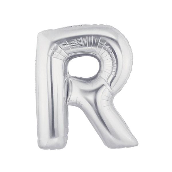 알파벳은박풍선 중 실버 [R]