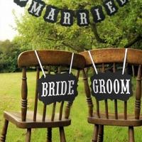 셀프웨딩촬영소품 BRIDE & GROOM