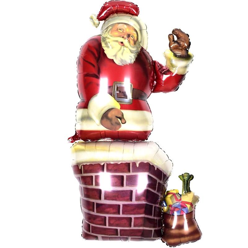 크리스마스은박풍선 굴뚝산타 울트라쉐입
