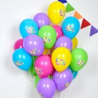 헬륨풍선 생일컵케익 10개묶음 [차량배달]