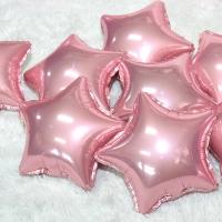 은박별풍선 9인치 핑크 6입 (자동실링)