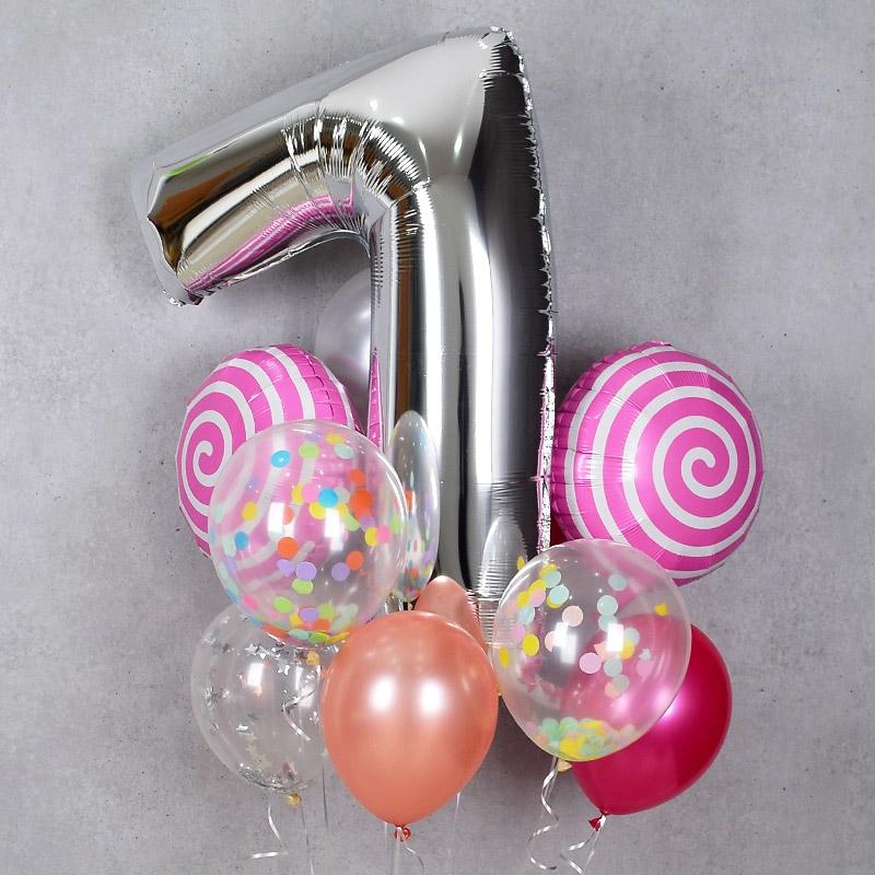 헬륨풍선 18인치 롤리팝 핑크 [차량배달]