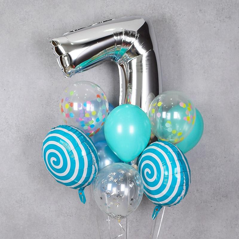 헬륨풍선 18인치 롤리팝 블루 [차량배달] 온라인한정