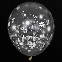 30cm 생일 촛불풍선 투명 50입