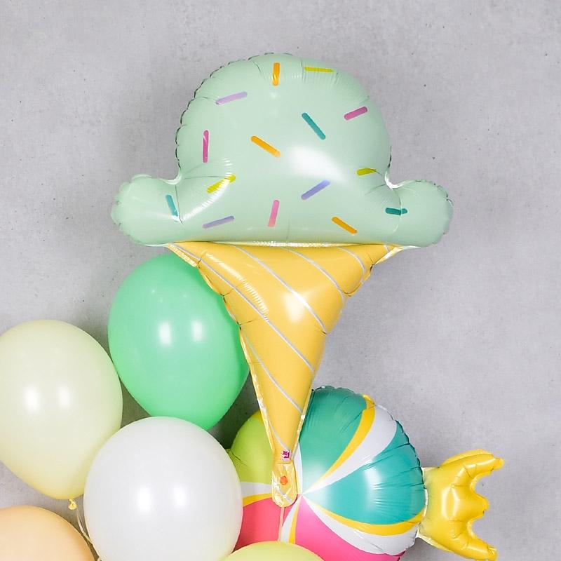 은박헬륨풍선 아이스크림 [차량배달]