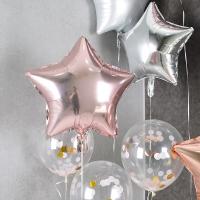 헬륨풍선 은박별 19인치 로즈골드 [차량배달] 온라인한정