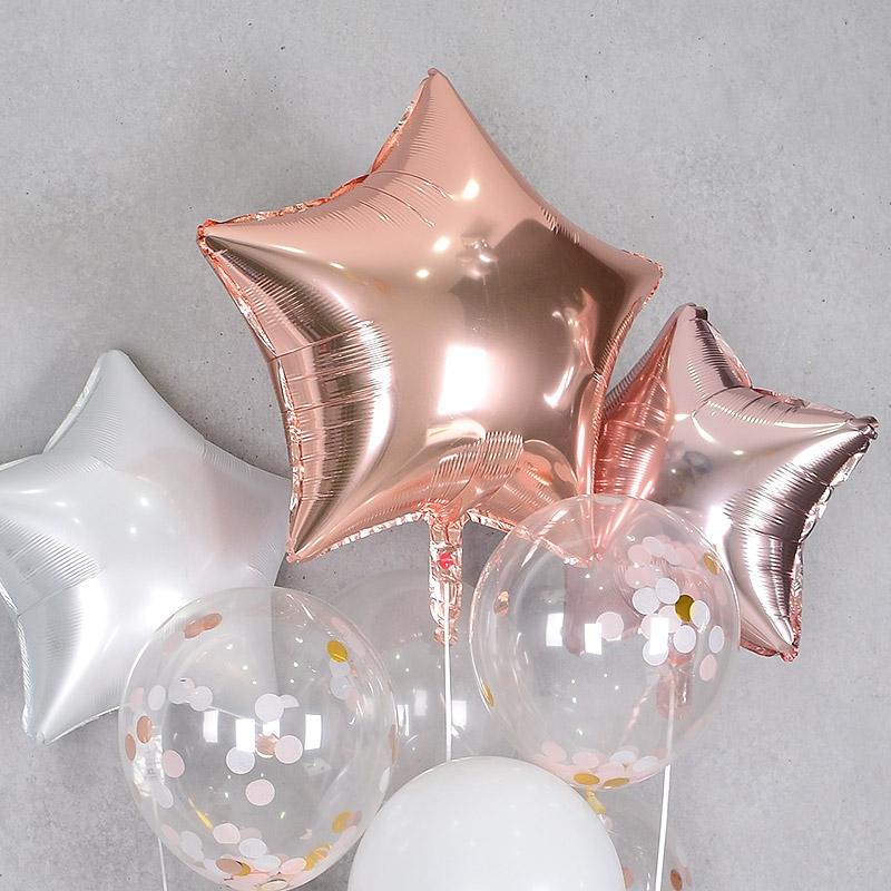 헬륨풍선 은박별 24인치 로즈골드 [차량배달] 온라인한정