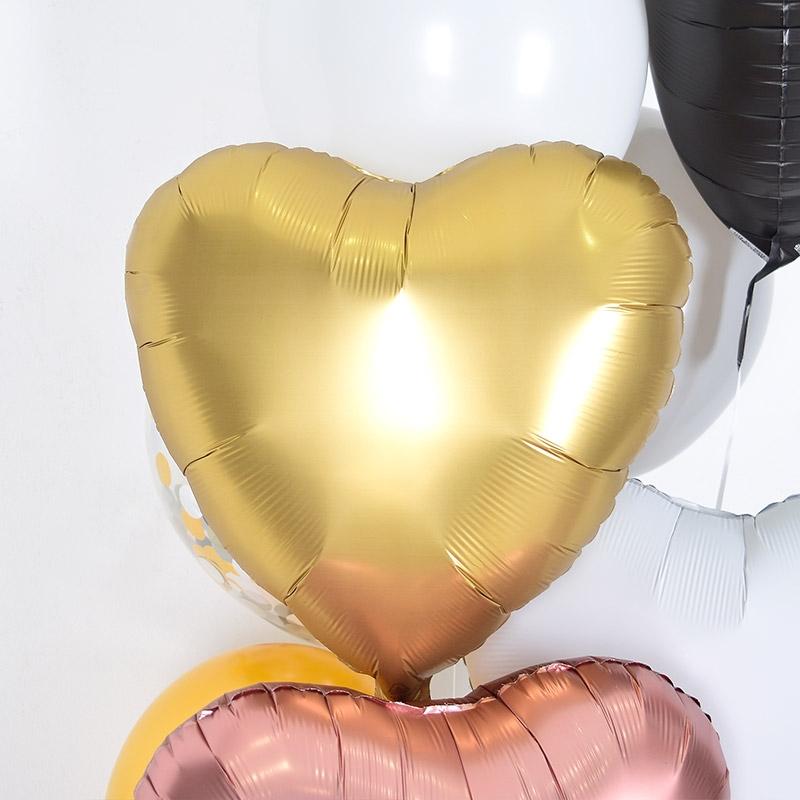 헬륨풍선 은박하트 샤틴골드 [차량배달] 온라인한정