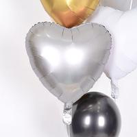 헬륨풍선 은박하트 플래티늄 [차량배달] 온라인한정
