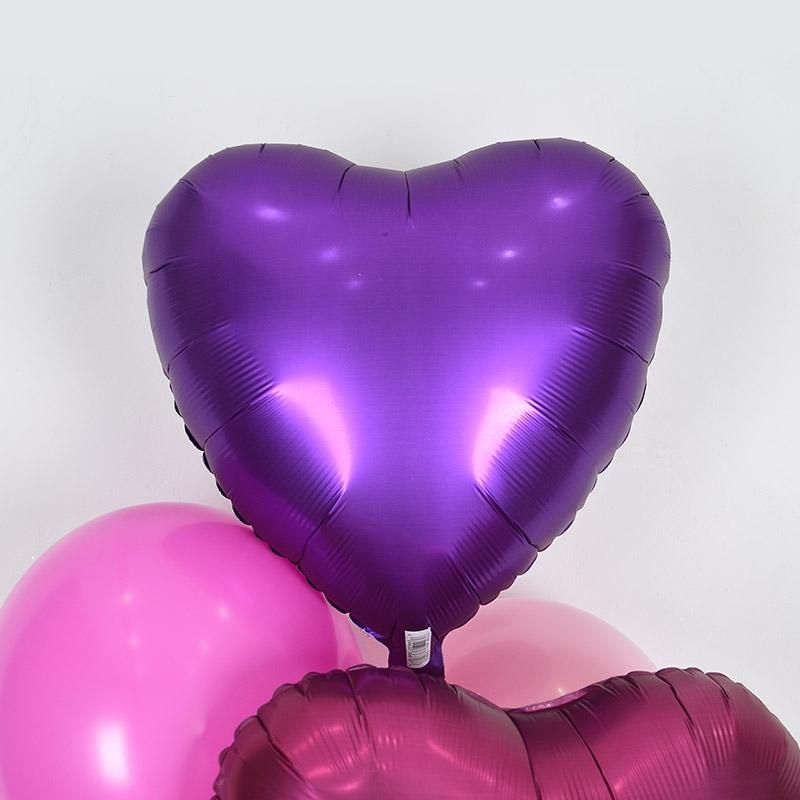 헬륨풍선 은박하트 퍼플로얄 [차량배달] 온라인한정