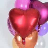 헬륨풍선 은박하트 샹그리아 [차량배달] 온라인한정