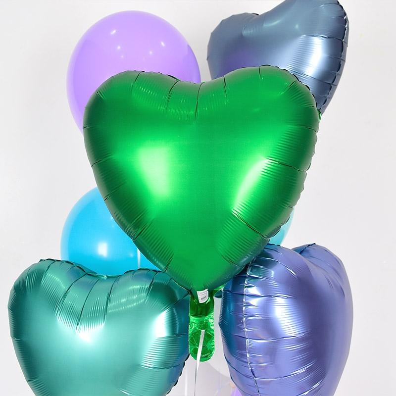 헬륨풍선 은박하트 에메랄드 [차량배달] 온라인한정