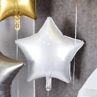 헬륨풍선 은박별 샤틴화이트 [차량배달] 온라인한정