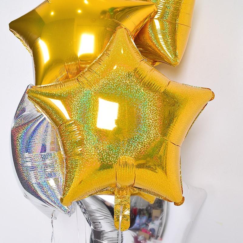 헬륨풍선 은박별 홀로그램 골드스타 [차량배달] 온라인한정