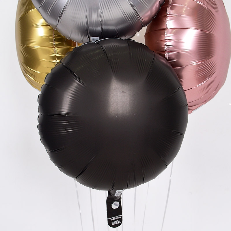 헬륨풍선 은박 라운드 오닉스블랙 [차량배달] 온라인한정