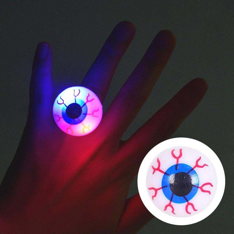 말랑말랑 LED 점등 눈알반지