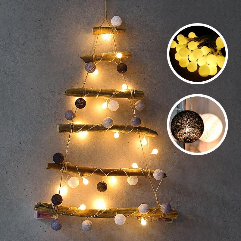 크리스마스 나무벽트리 코튼캔디 [전구포함] 온라인한정