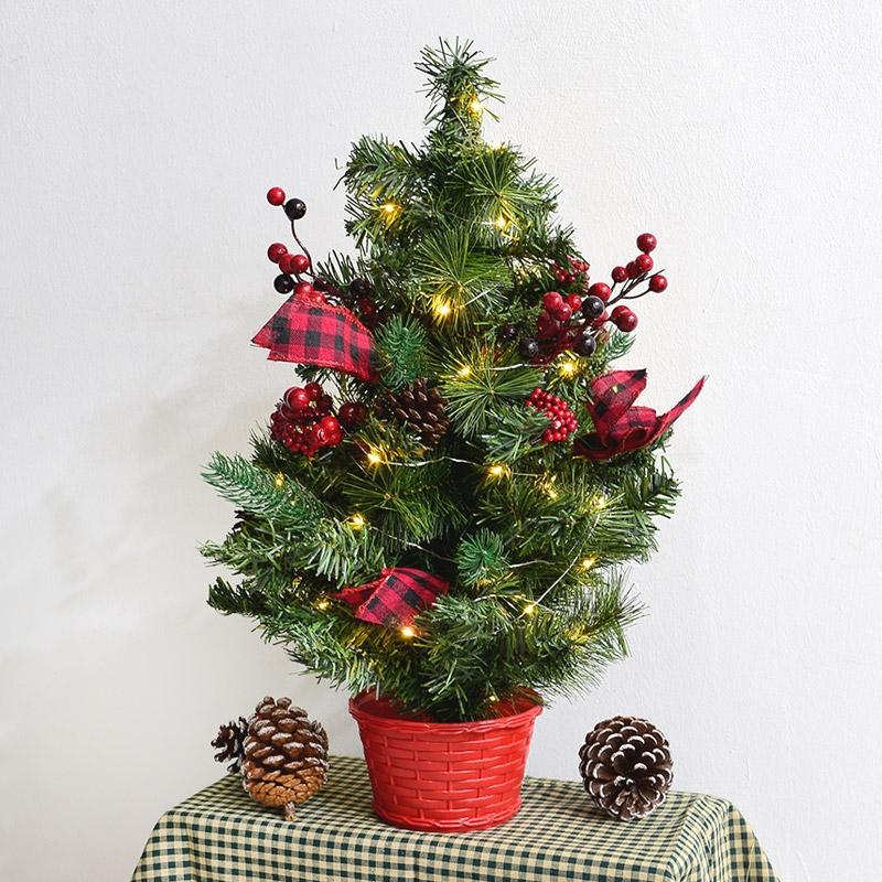 체크장식나무 40cm